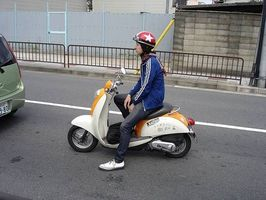 Scooter le code de la route au Japon